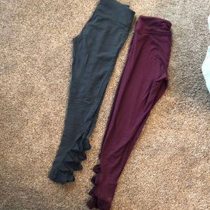 2 pair VS sport yoga pants
